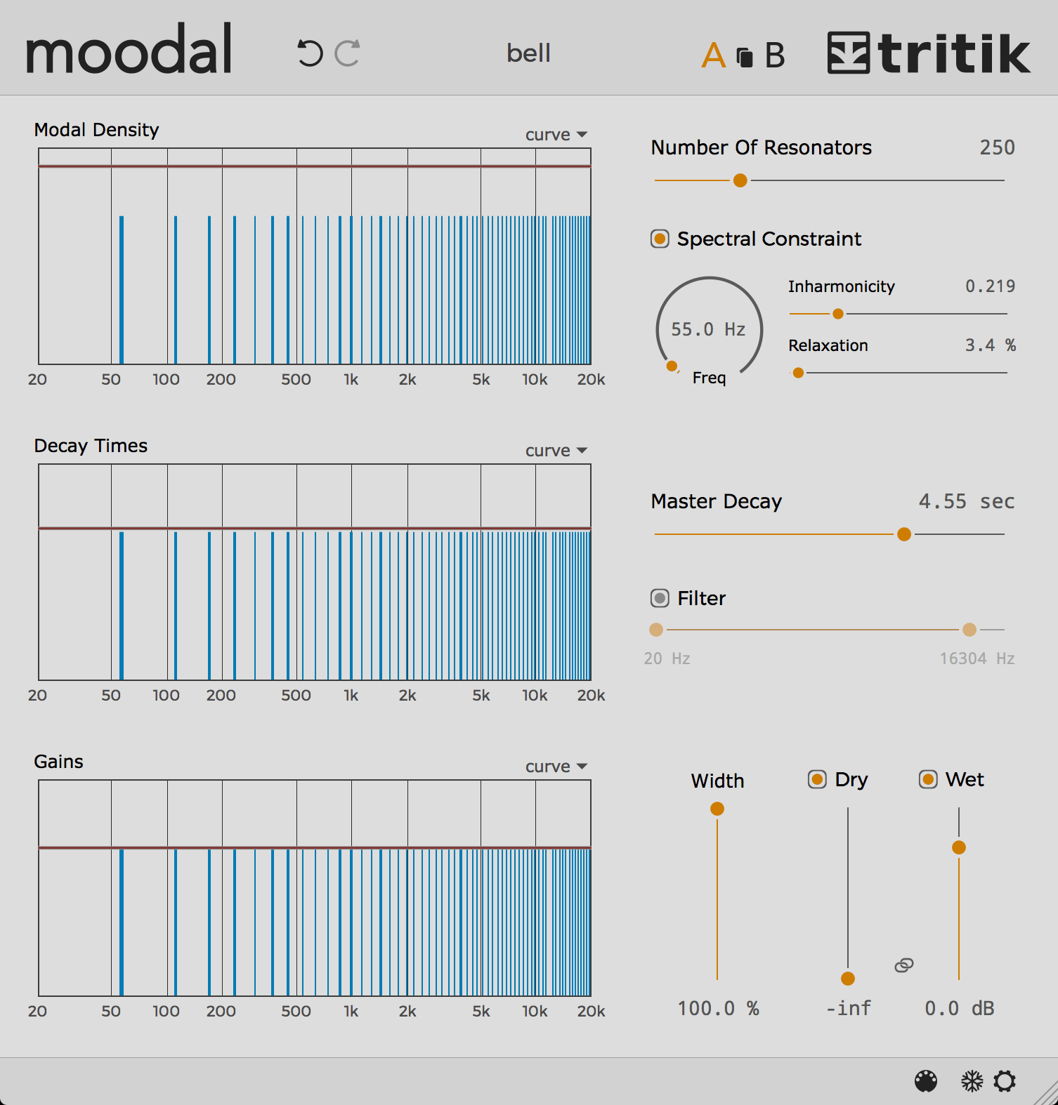 Moodal resonator plugin.